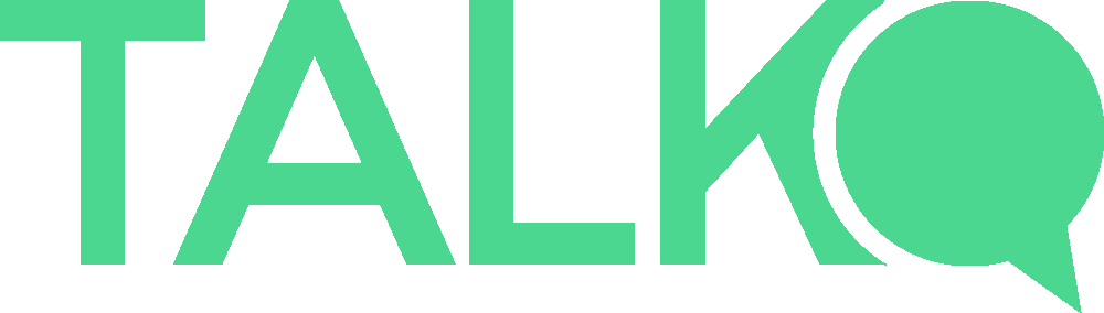 Talk logo bright green